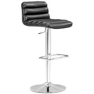 Zuo Nitro Black Adjustable Height Bar or Counter Stool   #M7304