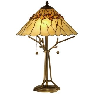 Bronze Branch Base Dale Tiffany Table Lamp   #X3255