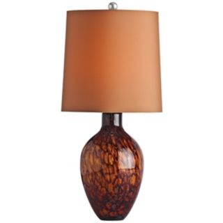 Arteriors Home Ty Tortoise Shell Glass Table Lamp   #V5081