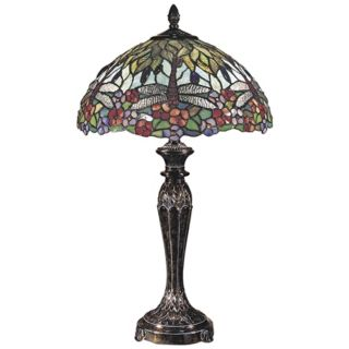 Dale Tiffany Fieldstone Art Glass Table Lamp   #12553