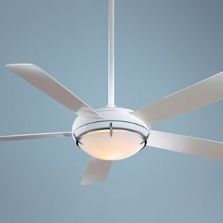 "54"" Minka Aire White Como Ceiling Fan   #53718"