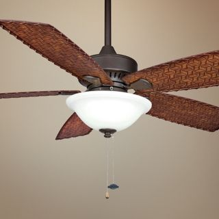 "52"" Fanimation Cancun Bamboo Wet Ceiling Fan with Light   #N5628"