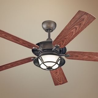 "52"" Monte Carlo Burnet Outdoor Ceiling Fan with Light   #U6010"