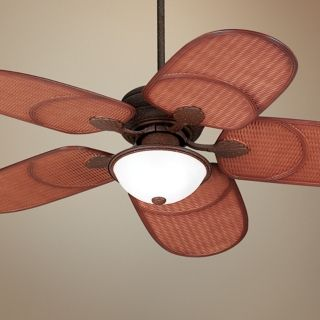 "52"" Casa Vieja Rattan Outdoor Tropical Ceiling Fan   #55999"