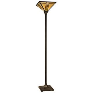 Dale Tiffany Noir Art Glass Torchiere Floor Lamp   #X3514