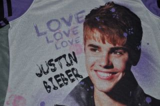 Justin Bieber Girls Nightgown Nighty Pajamas w/ LOVE Bracelet Multiple