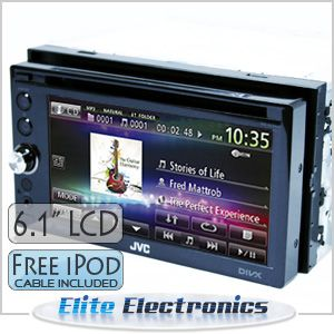 JVC KW AVX646 6 1 LCD Double DIN Car DVD iPod Player