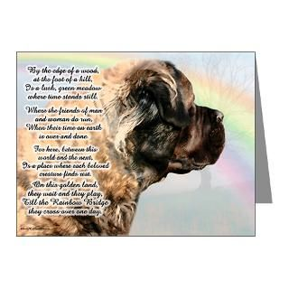 Mastiff Note Cards  Rainbow Bridge w/ poem Note Cards (Pk of 10