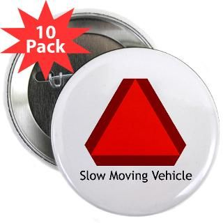 Slow Moving Vehicle Sign   2.25 Button (10 pack)