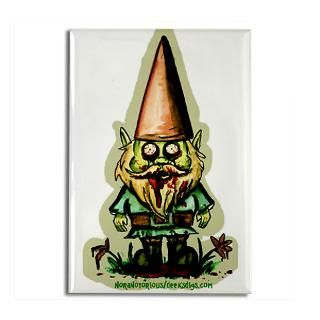 Zombie Garden Gnome Rectangle Magnet