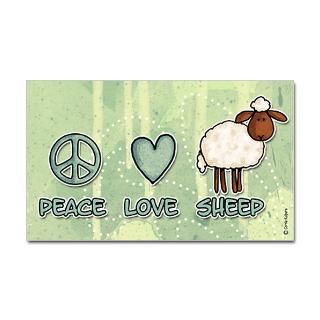 Peace Love And Rock N Roll Stickers  Car Bumper Stickers, Decals