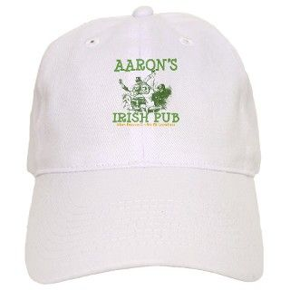 Aarons Vintage Irish Pub Personalized Baseball Cap by bestnametees