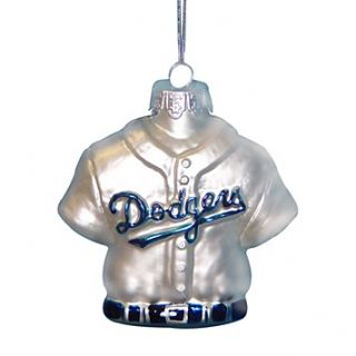 Kurt Adler Dodgers Jersey Glass Ornament, 3.25