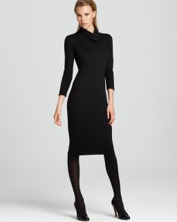 Armani Collezioni Fitted Dress   Elbow Sleeve