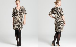 Jones New York Collection Plus Elbow Sleeve Twisted Wrap Dress_2
