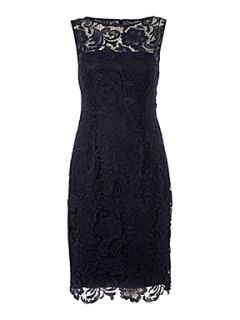 Adrianna Papell Evening Lace shift dress Navy