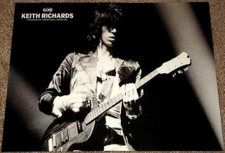 Keith Richards Rolling Stones 70s Live Concert Poster