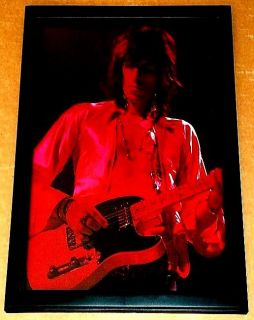 Keith Richards Fender Telecaster Rolling Stones Framed 70s Live