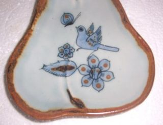 Ken Edwards Tonala Mexican Bird Pottery Art Display