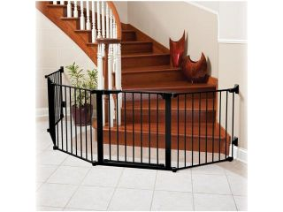 Kidco G3001 Auto Close CONFIGURE Child Safety Pet Gate Black formerly