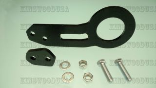 CNC Aluminum JDM Black Tow Hook Front Rear Set Civic Del Sol CRX