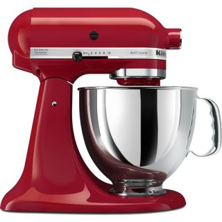 KitchenAid 10 Speed Electric Stand Mixer Red w Stainless Steel Mixing
