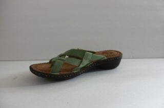 New UGG Australia Womens Lanni Green Leather Thong Sandal Shoe Size 7