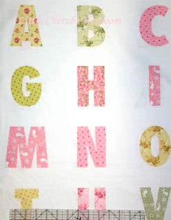 Lake House Baby Girl Alphabet Pearl Panel Fabric
