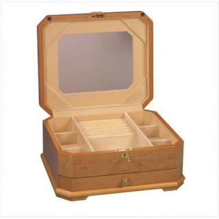 New Large Wood Wooden Jewelry Box Chest Case WomenS