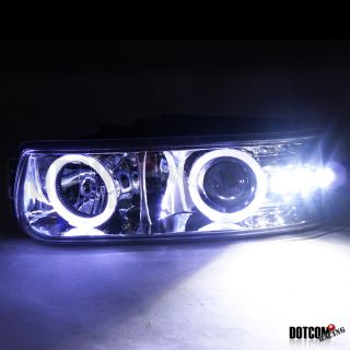 Chevy Silverado Tahoe Suburban Halo LED Projector Headlights Bumper