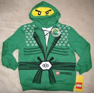 Lego Ninjago Green Ninja Fleece Zipper Hoodie Sweater Sweatshirt