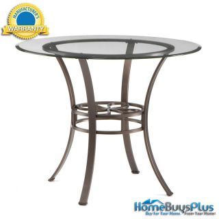 Leonora Dining Table Round w Glass Top Metal Base Chairs Available