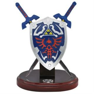 New 8 Mini Zelda Hylian Shield and Sword Table Top Display Set