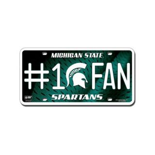 Michigan State Spartans Aluminum License Plate #1 Fan Vibrant Colors