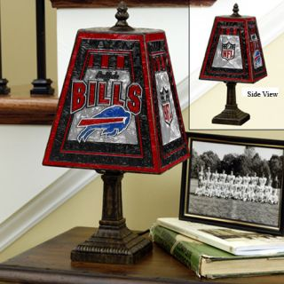 Buffalo Bills Art Glass Table Lamp
