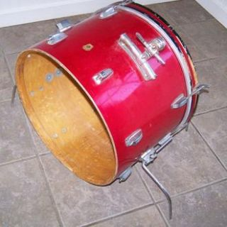 Vintage 1960s Ludwig 14x20 Red Sparkle Bass Drum