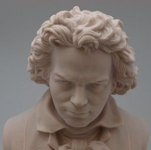 Marble Bust of Ludwig Van Beethoven Music Composer