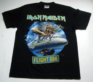 Great Rock Iron Maiden The Flight 666 T Shirt M 2XL
