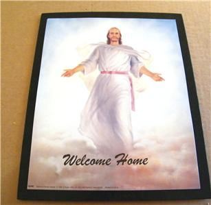Jesus Arms Out Welcome Home Christian Art Plaque Sign