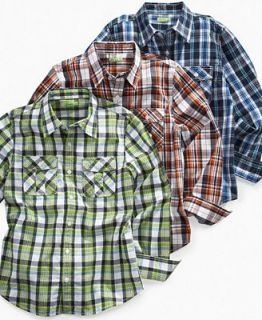 82Zero Kids Shirt, Boys Long Sleeve Plaid Shirt