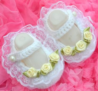 Rose Mary Jane Newborn Baby Girl Reborn Doll Booties