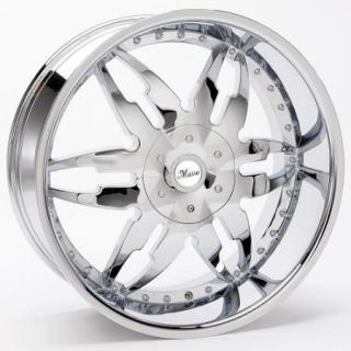 20x8 5 Et 35 Chrome Massa 45 Wheels Rims 5 Lug Front Wheel Drive Cars
