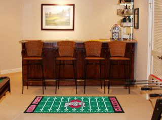 State Buckeyes NCAA 29 x 72 Football Field Runner Area Rug Floor Mat