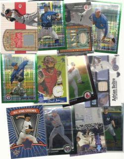 Baseball Collection Game Used Lot Auto Patch Jersey 1 1 Autograph