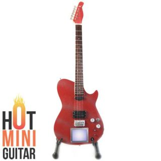 Hot Miniature Guitar Matt Bellamy Manson Glitter Red Custom Free Std