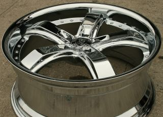 VON MAX VM07 20 CHROME RIMS WHEELS MERCEDES E320 CLK320 / 20 X 8.5 5H