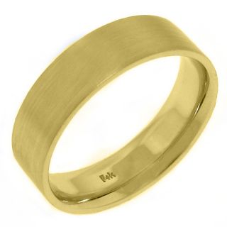 Mens Mans Wedding Band Engagement Ring 14kt Yellow Gold Brushed Sand