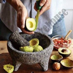 Molcajete Authentic Mexican Guacamole Grinder Lava Rock Stone Mortar
