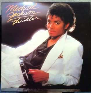 Michael Jackson Thriller LP VG QE 38112 Vinyl 1982 1st Press Run 1A 1D