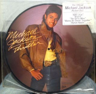 Michael Jackson Thriller Picture Disc LP Vinyl VG